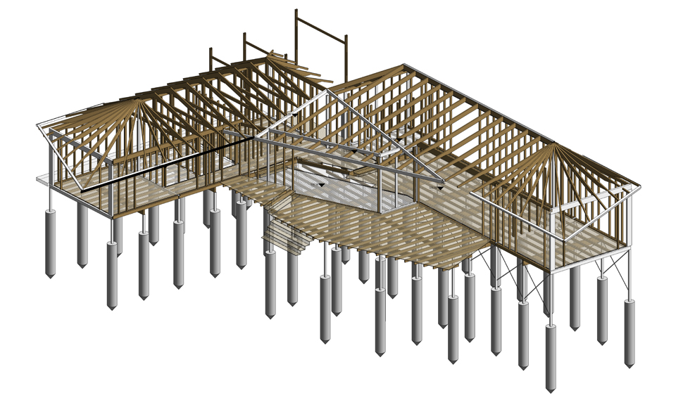 Structural Model_Axonometric View