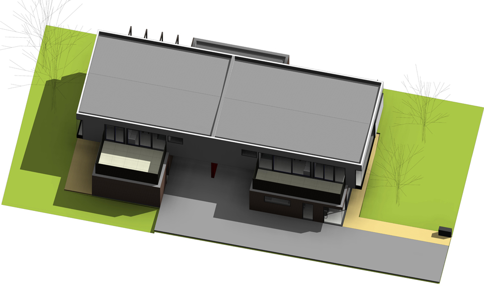 Option 2 Roof_Axonometric View